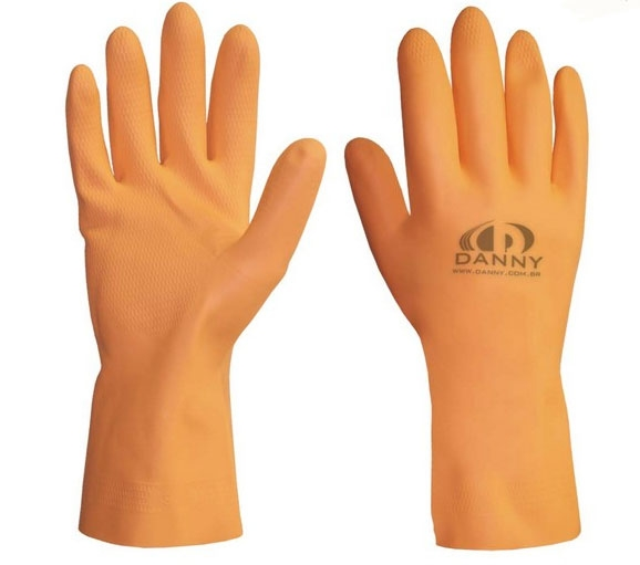 Luvas Latex Max Orange